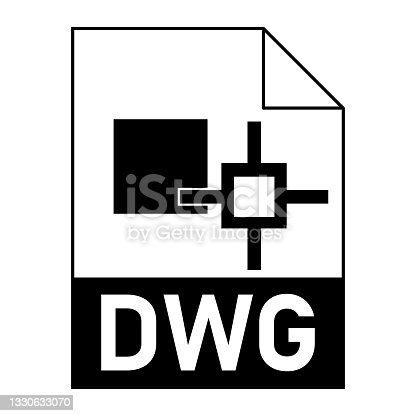 istock Modern flat design of DWG file icon for web 1330633070
