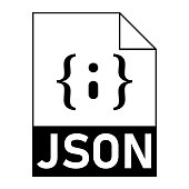 istock Modern flat design of JSON file icon for web 1330633250