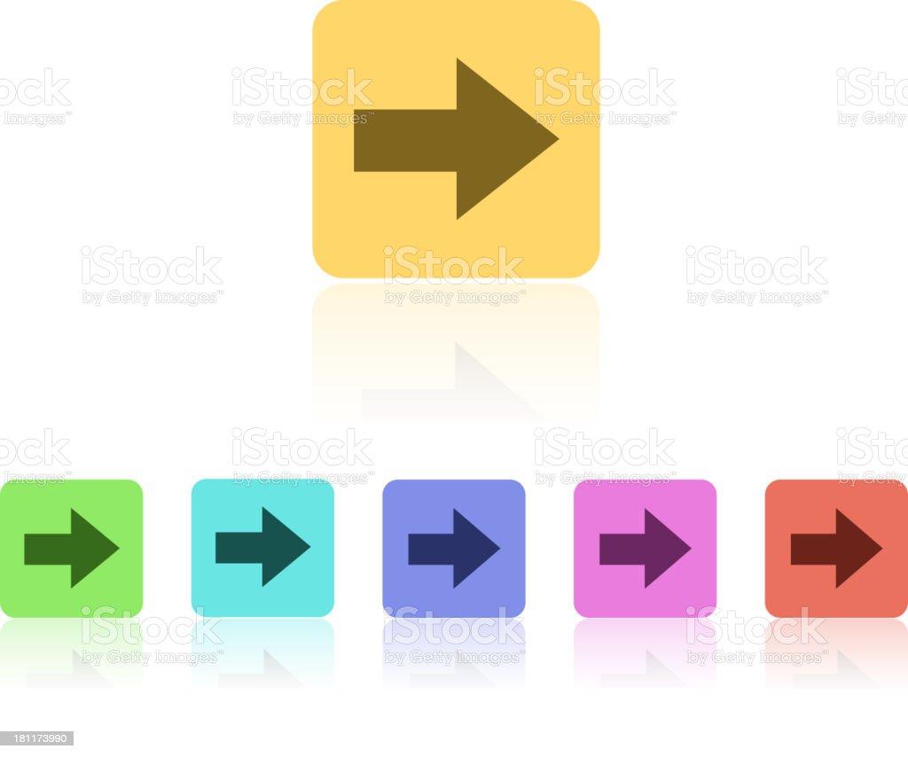Modern Flat Icon Set royalty-free stock vector art