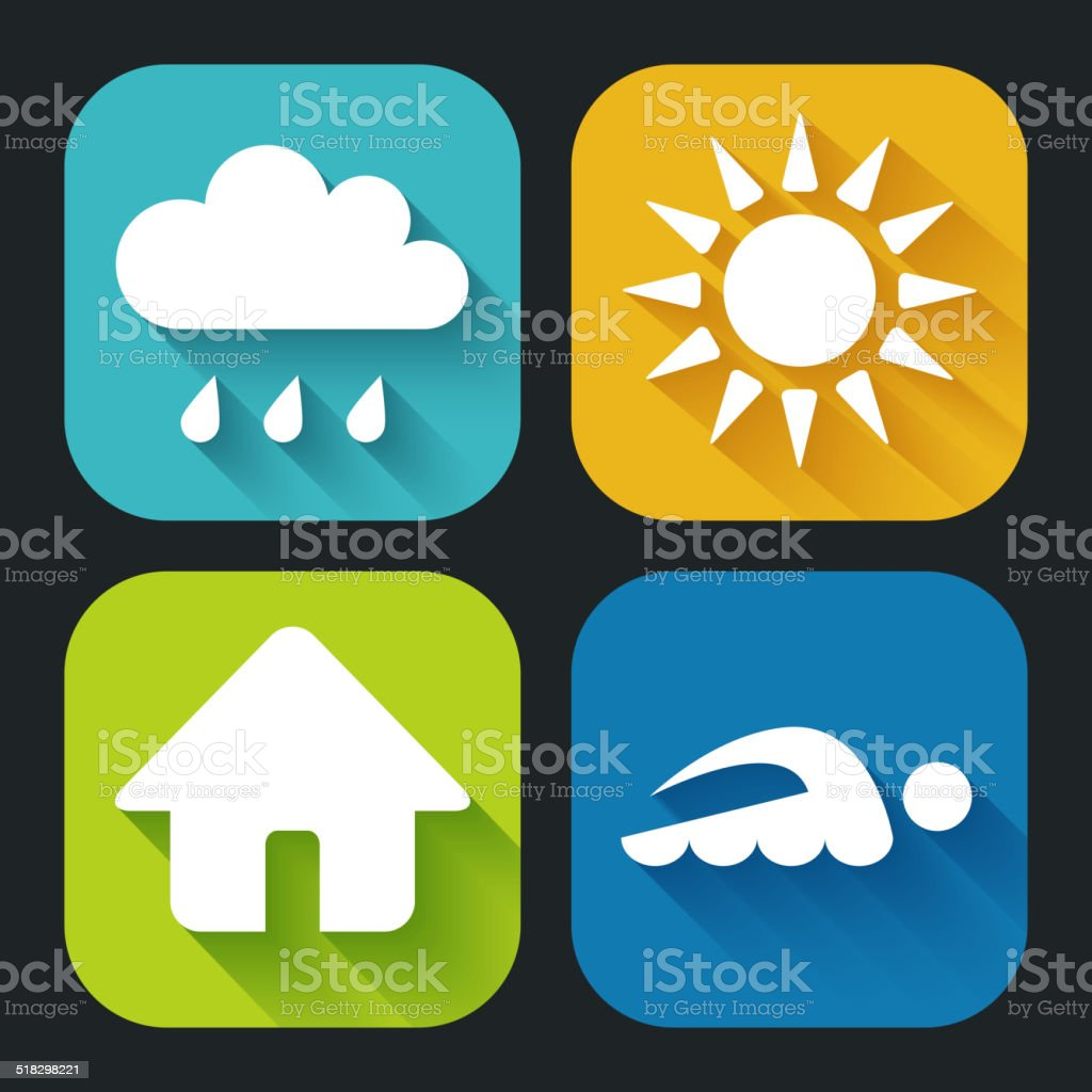 Modern Flat icons for Web and Mobile Applications. vector art illustration