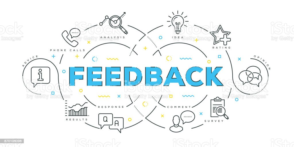 Modern Flat Line Design Concept of Feedback