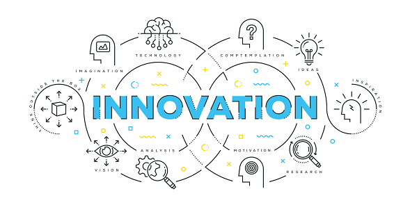 Modern Flat Line Design Concept of Innovation clipart