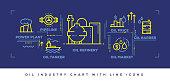 Modern Flat Line Design Concept of Oil Industry