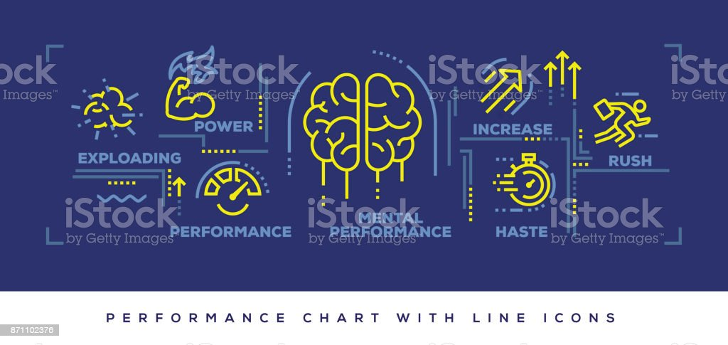 Modern Flat Line Design Concept of Performance vector art illustration