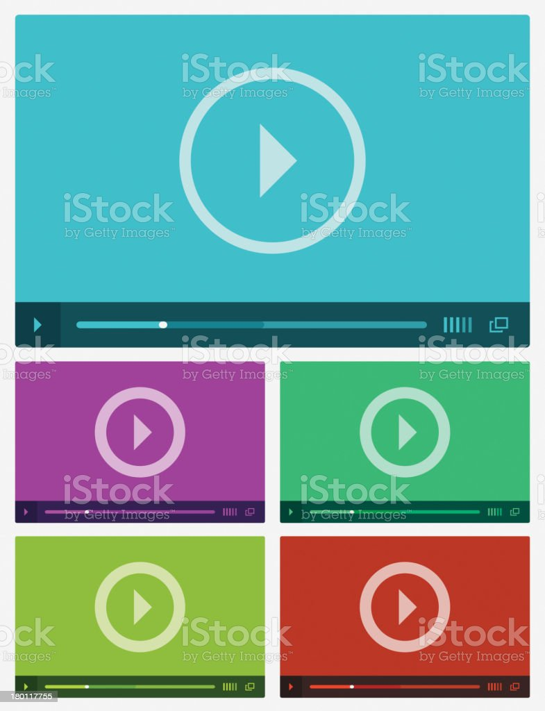 Modern flat video player interface. royalty-free modern flat video player interface stock vector art & more images of backgrounds