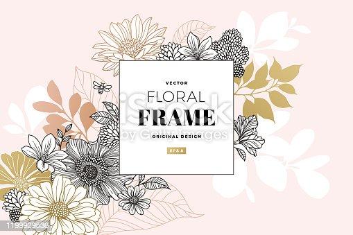 Modern Floral Frame
