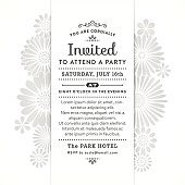 Invitation with stylized flowers in silver tones.File is layered with global colors.Hi res jpeg without text included.More works like this linked below.