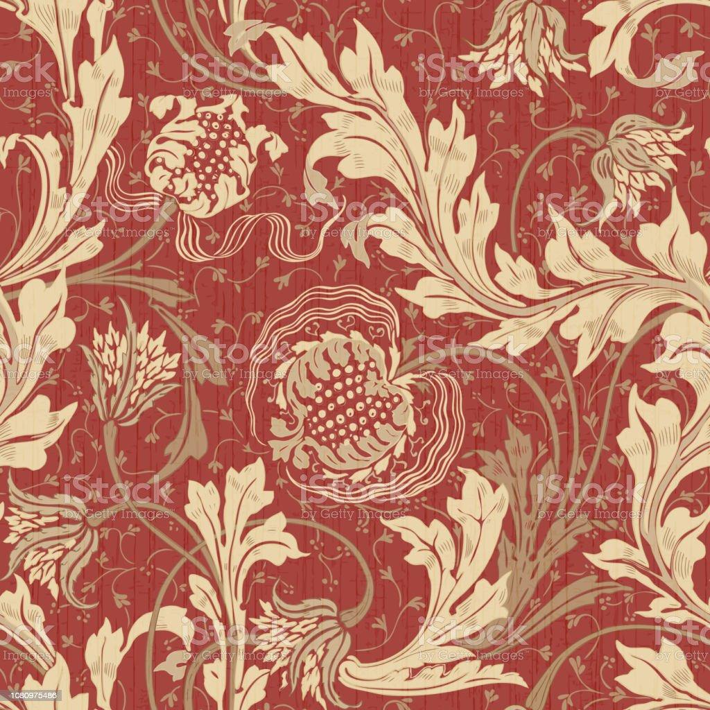 Modern Floral Seamless Pattern For Your Design Stock Illustration