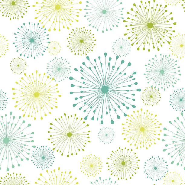 モダンな花柄シームレスなパターン - ボタニカル点のイラスト素材/クリップアート素材/マンガ素材/アイコン素材