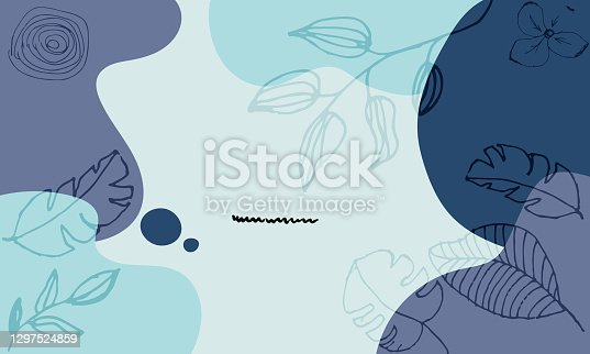 istock Modern Floral Vector Colorful Pastel Abstract Background 1297524859