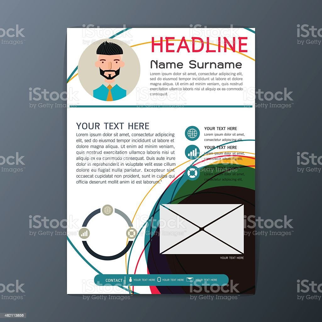 Ilustración de Moderno DiseÑo Flyer Revistas Folletos De Negocios ...