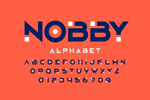 современный дизайн шрифтов - алфавит stock illustrations
