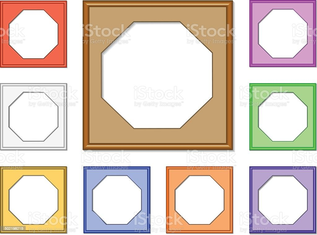modern frame-octagon01 royalty-free stock vector art