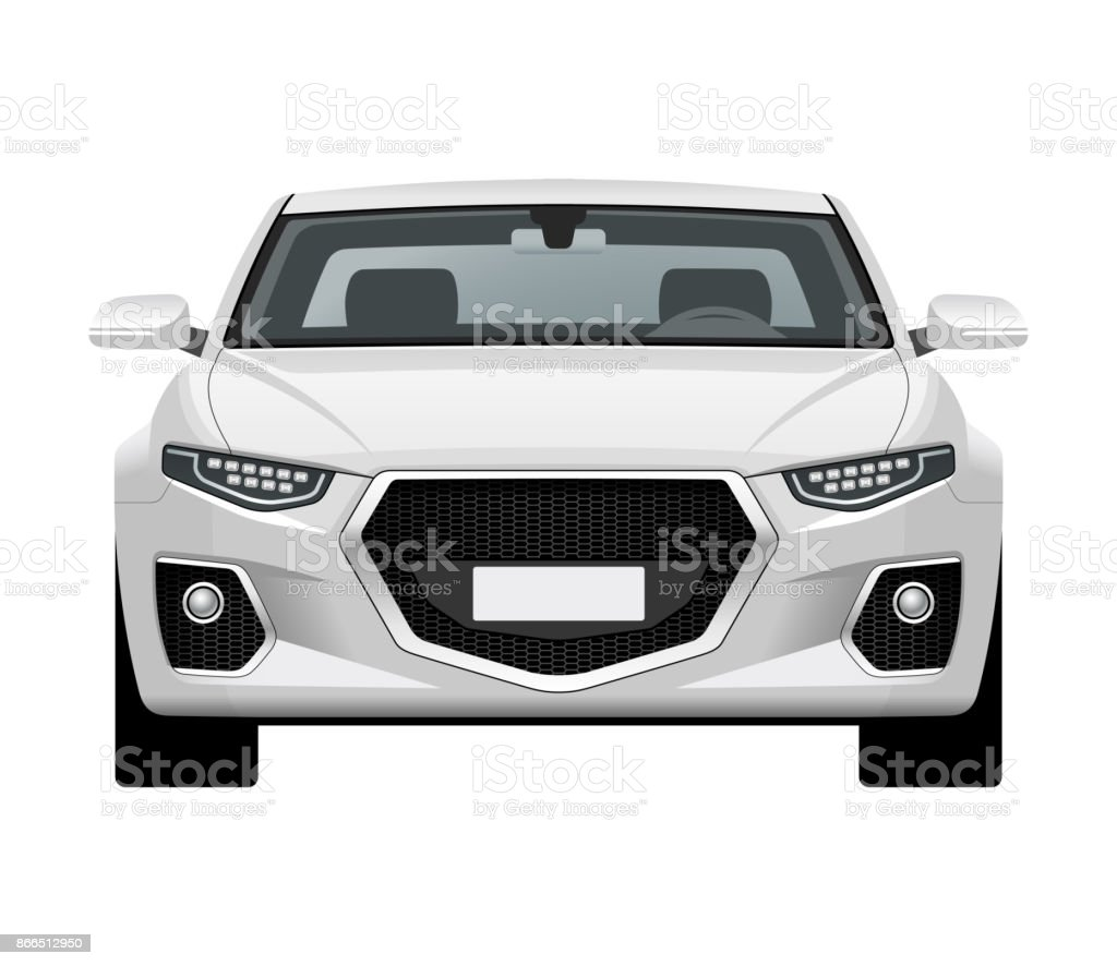 Royalty Free Luxury Car Front Clip Art Vector Images