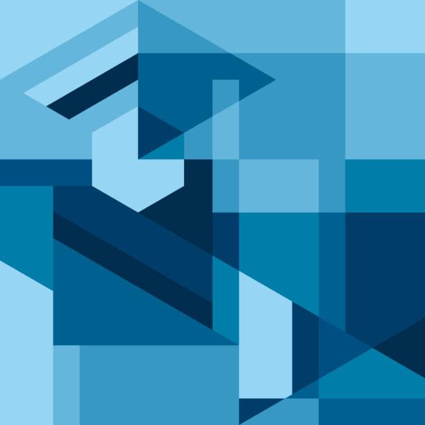 moderne geometrische abstrakte hintergründe - avantgarde stock-grafiken, -clipart, -cartoons und -symbole