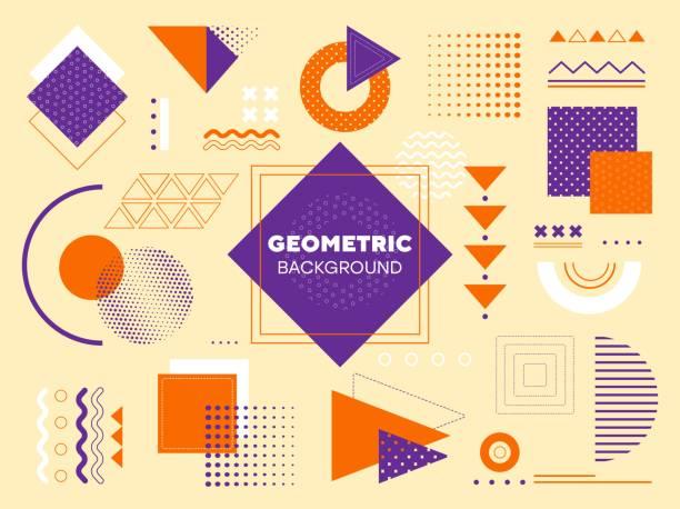 ilustrações, clipart, desenhos animados e ícones de fundo geométrico moderno - elements
