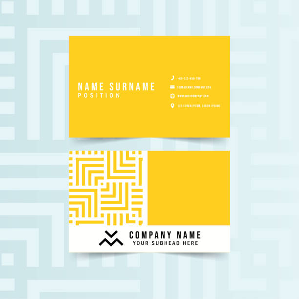 Modern Geometric Business Card Modern Geometric Business Card Vector Template business cards and stationery stock illustrations