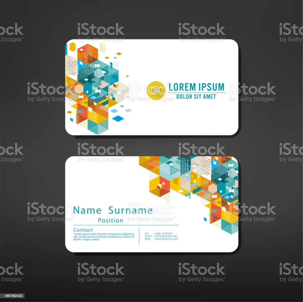 modern geometric business cards design template layout