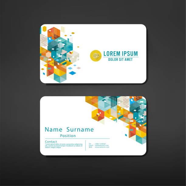 modern geometric business cards design template layout vector art illustration