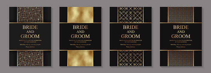 Modern geometric luxury wedding invitation design or card templates for birthday greeting or certificate or poster.