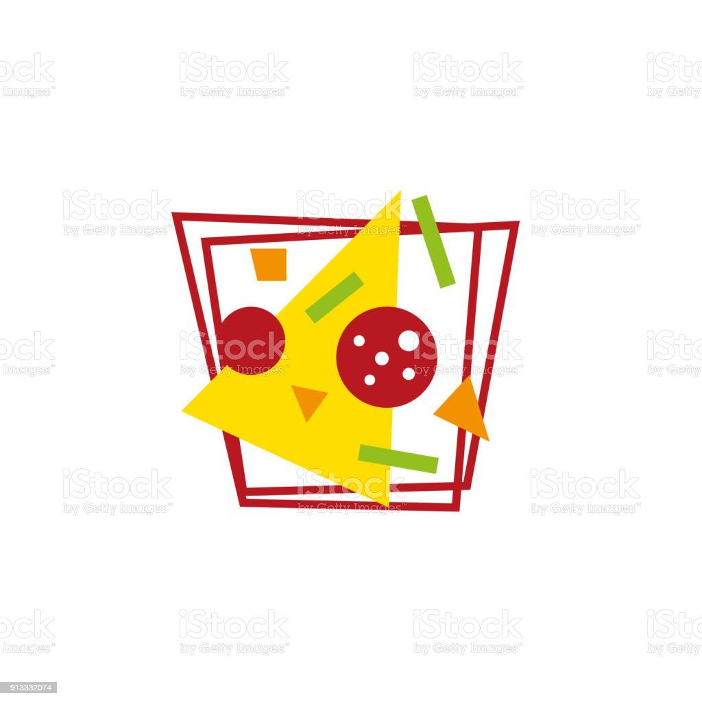 Illustration De Pizza Gomtriques Modernes Ide Emblme Pour La Conception Menu Carte