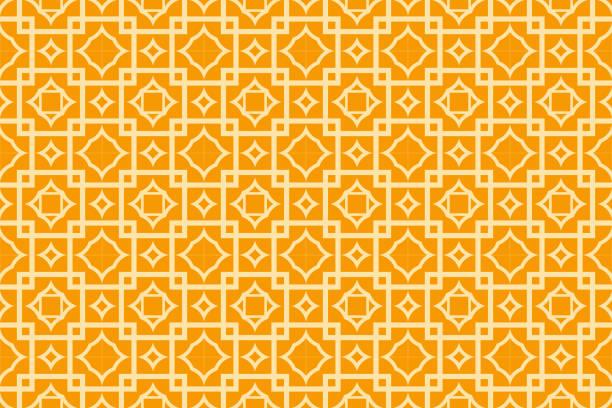 modernen geometrischen musterdesign in orange farbe stil. vektor-illustration. einladungskarte design, geschenkbox, hintergrund, tapete, textilien - rankgitter stock-grafiken, -clipart, -cartoons und -symbole