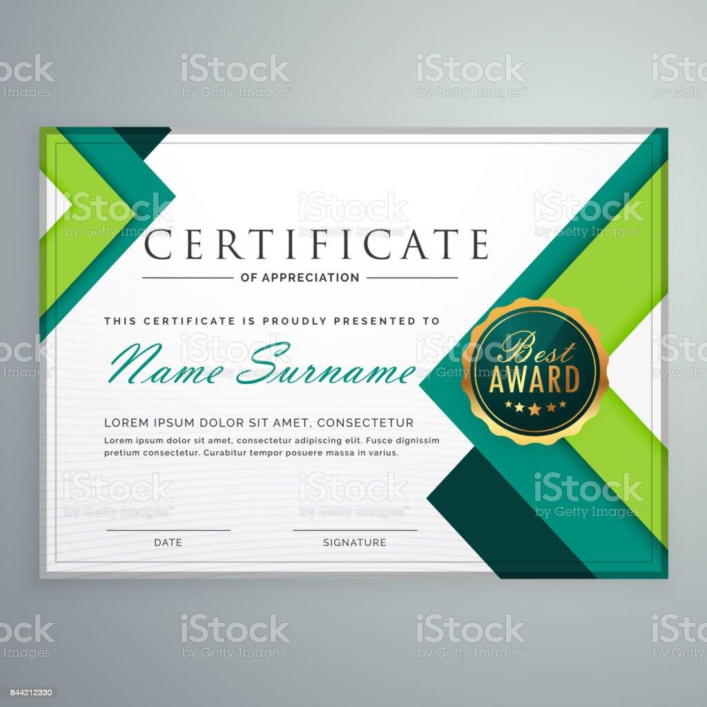 modern geometric shape certificate design template векторная иллюстрация