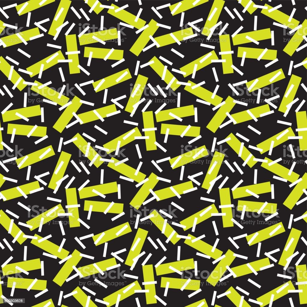 Modern geometry seamless pattern vector illustration surface design for print and web. retro post-modernist style motif. Pop art repeatable fabric sample. vector art illustration