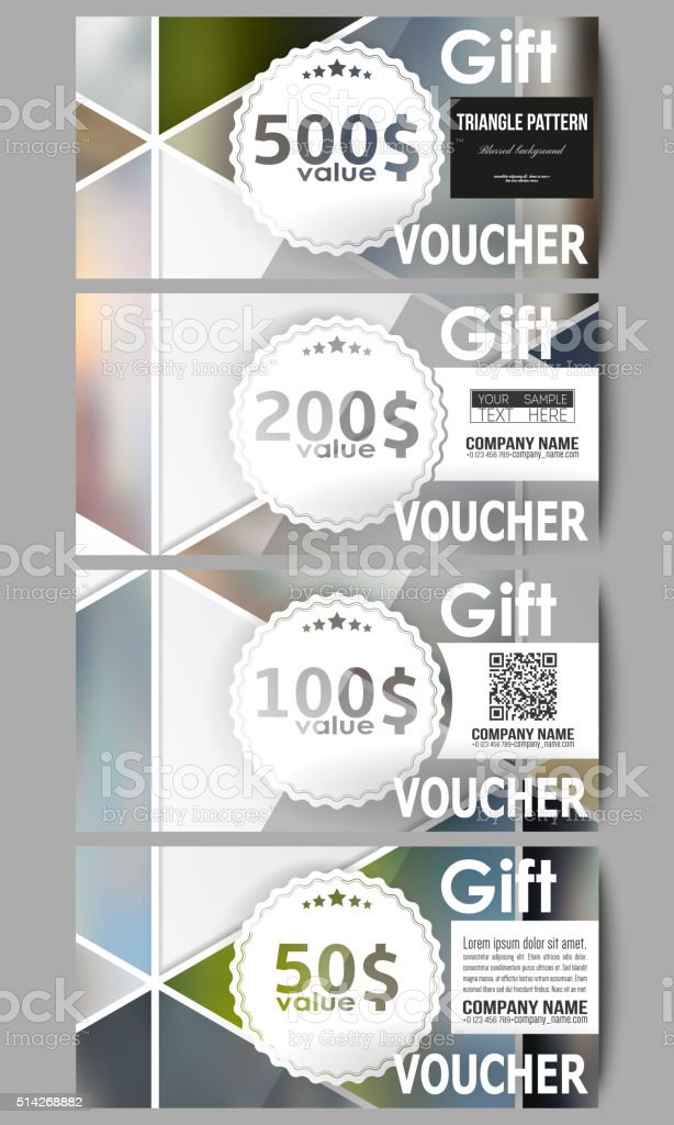 Modern Gift Voucher Templates Abstract Multicolored Background Of ...
