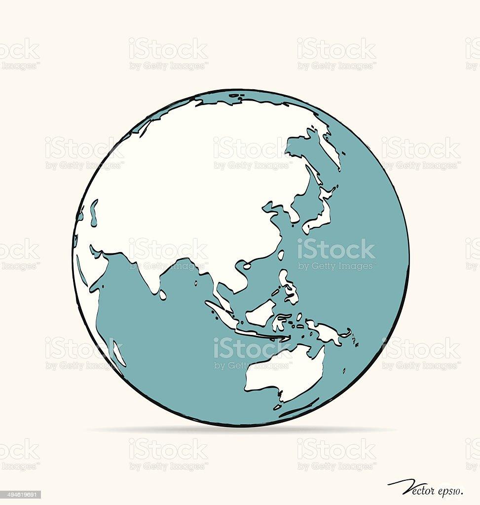 рисунок макет глобус