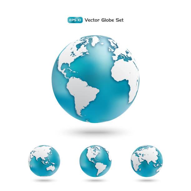 ilustrações, clipart, desenhos animados e ícones de moderno conjunto de ícones do globo. - globos