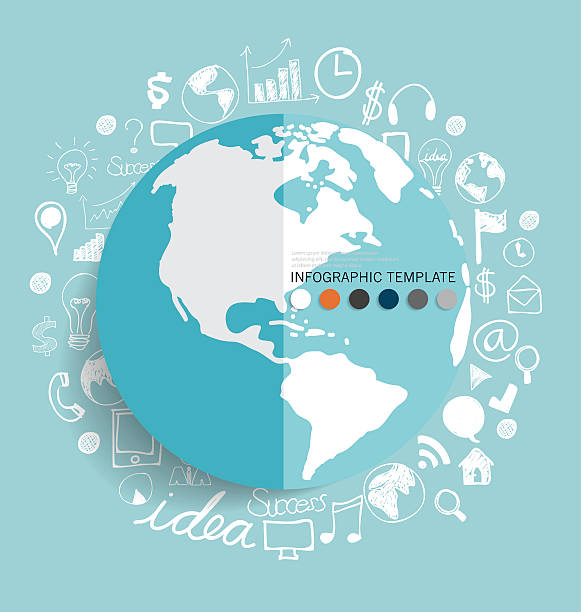 Modernen Welt Anwendung-Symbol mit, modern template-design. – Vektorgrafik