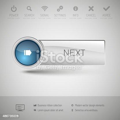 istock Modern Glossy Button 486735028