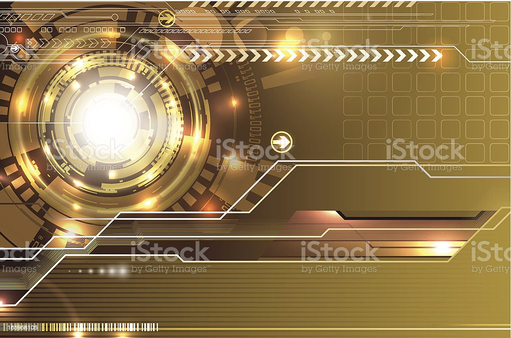 Modern glowing composition. royalty-free stock vector art