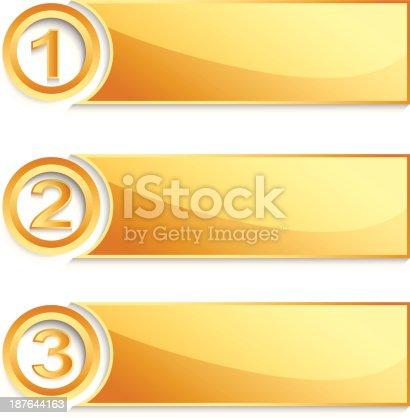 Moderno golden posição banner