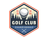 Modern Golf Badge Emblem Illustration