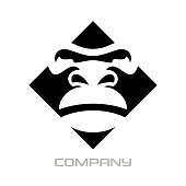 Modern gorilla logo