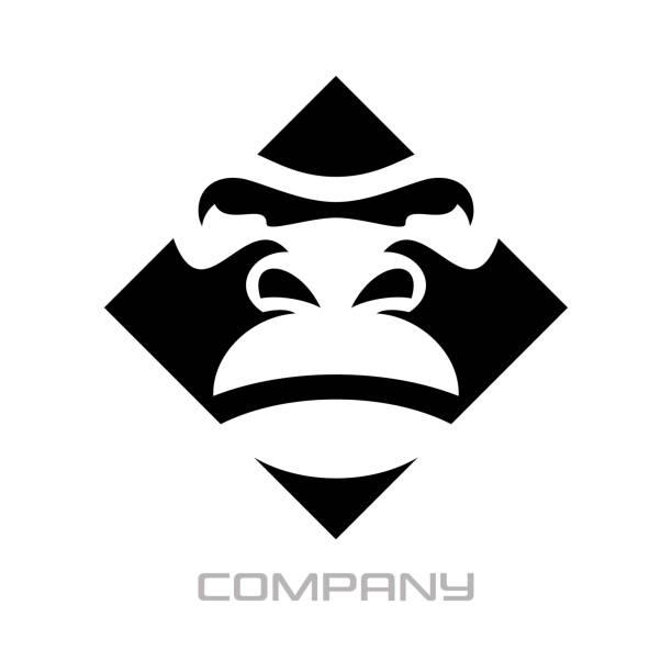 modern gorilla logo - gorilla stock illustrations