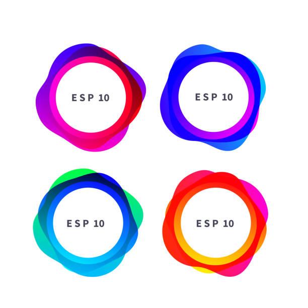 ilustrações de stock, clip art, desenhos animados e ícones de modern gradient color frames - líquido