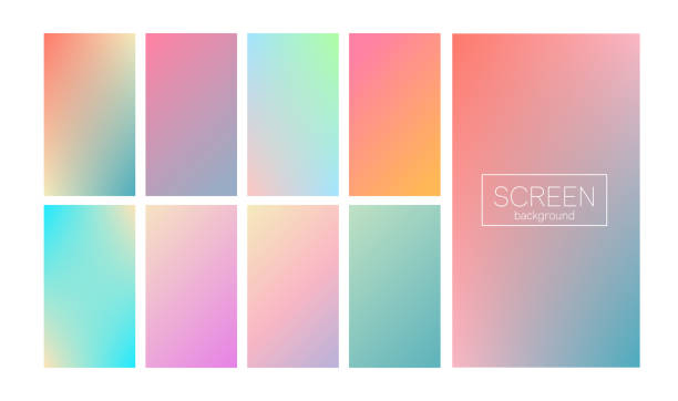 modern gradient set abstract background - 20th century stock illustrations