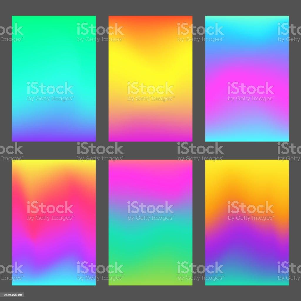 Fondos de pantalla de smartphone moderno gradientes - ilustración de arte vectorial