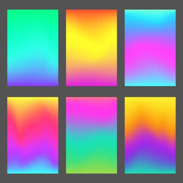 ilustraciones, imágenes clip art, dibujos animados e iconos de stock de fondos de pantalla de smartphone moderno gradientes - fondos coloridos
