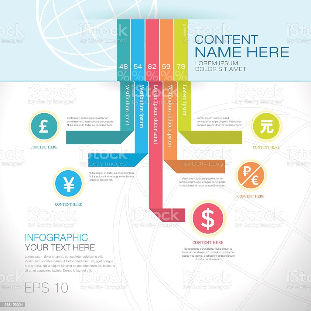 Modern Graph Design Or Infographic Design Template For ...