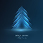 Abstract modern Christmas tree with space for your text. EPS 10 vector illustration, contains transparencies. High resolution jpeg file included(300dpi).
