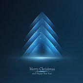Modern graphic Christmas tree design