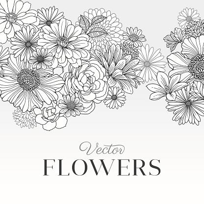 Modern Graphic Flowers