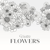 Modern Graphic Flowers