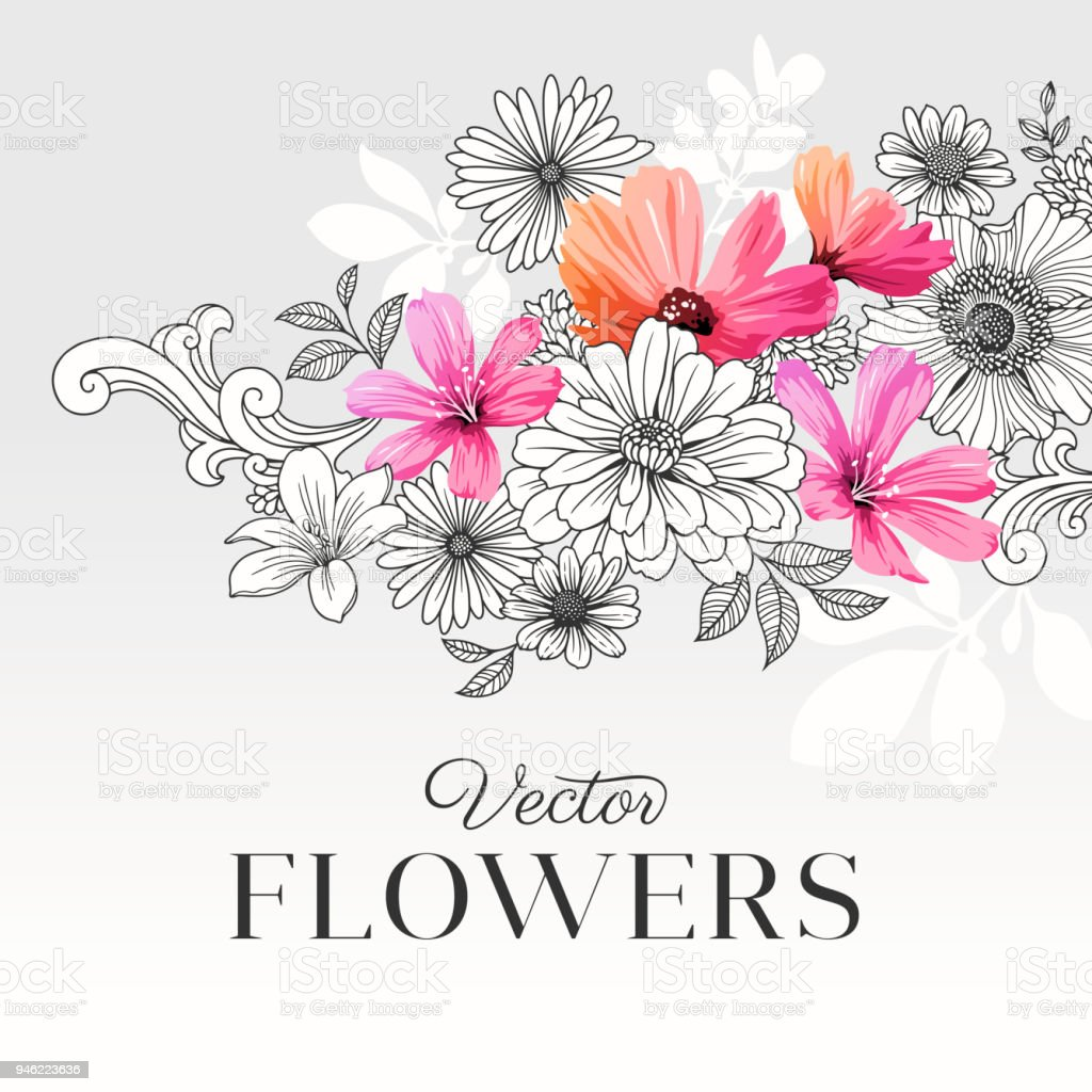 Modern Graphic Flowers Stock Illustration Download Image Now Istock