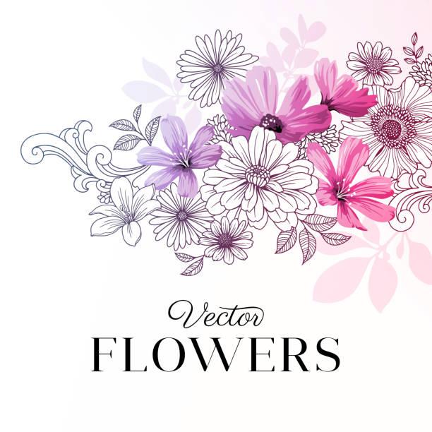 モダンなグラフィックの花 - ボタニカル点のイラスト素材/クリップアート素材/マンガ素材/アイコン素材