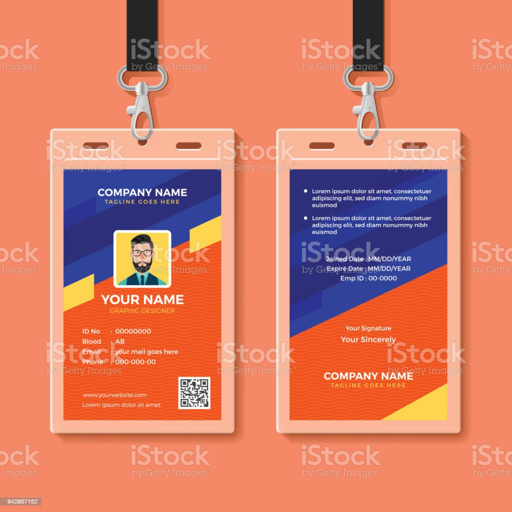 Modern Graphic Id Card Design Template Stock Vector Art & More ...
